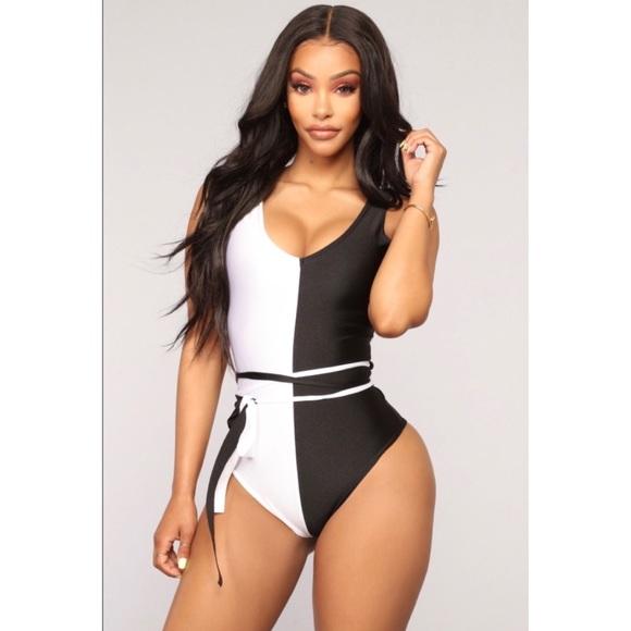 6743283c815ba FASHION NOVA - Can t Decide Swimsuit - Black White